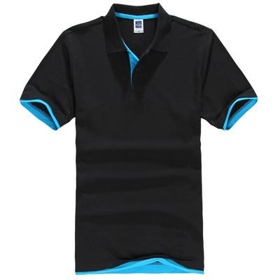 2015 hombres del verano de hombres del algodón camisa de Polo sólido ocasional respirable camisa de Polo Polo prlar hombres más el tamaño S-XXXL