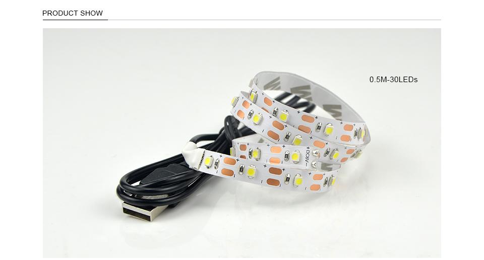 Света Сид RGB 2835 СМД 60LED/м кухонный шкаф светодиодной лентой 1-5M водоустойчивая прокладка гардероб телевизор украшение лампы 5В USB кабель для зарядки