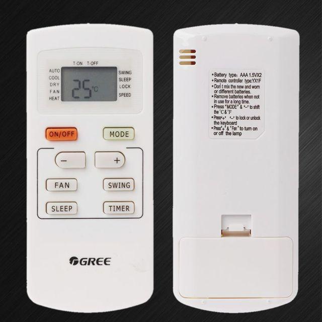 Remote Control Universal Air Conditioner Controller Replacement for Gree AC YX1F Yx1f5f Yx1f1 Yx1f2 Yx1f3 Yx1f4 Yx1f5