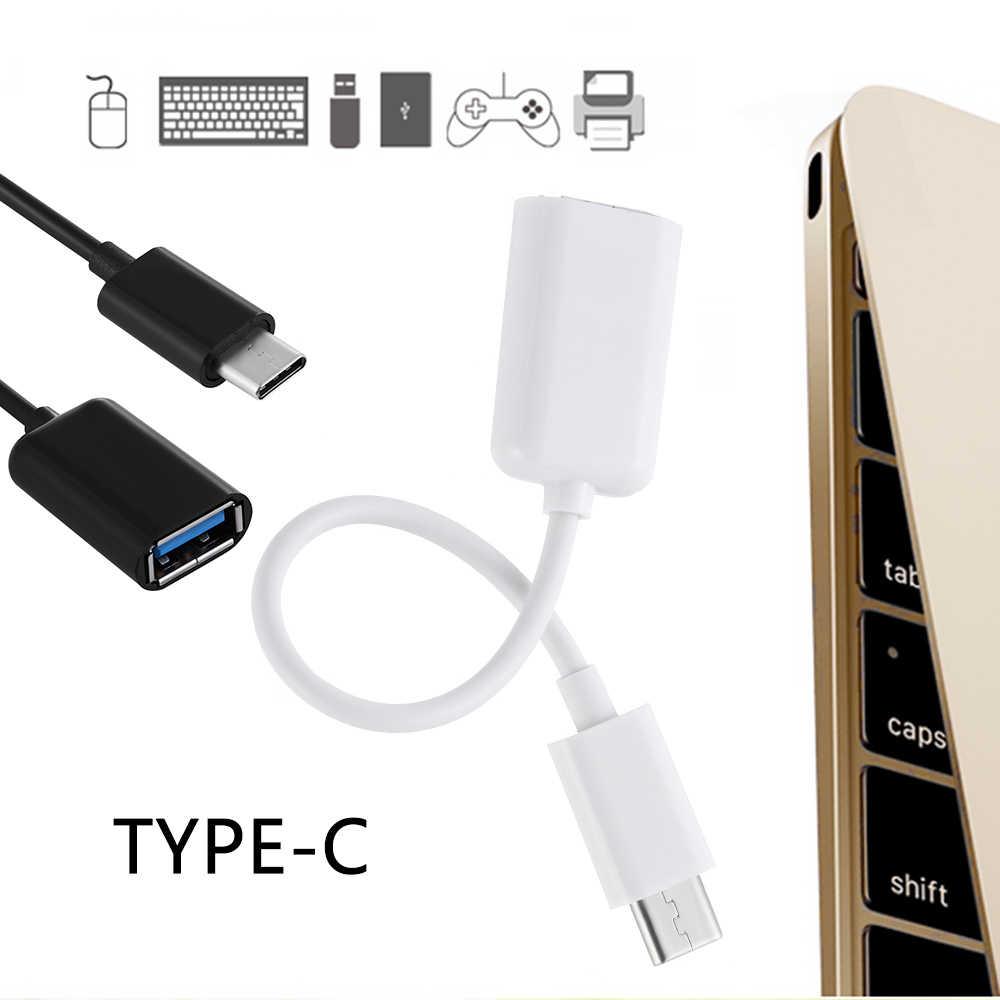 Универсальный OTG Кабель-адаптер для передачи данных type-C OTG Кабель-адаптер type C штекер USB 3,0 A Женский конвертер для Macbook высокого качества