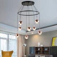 Металлический шар подвесной лампы бар маленький светодиодный свет висит современный минималистский Спальня Ресторан подвесной светильни