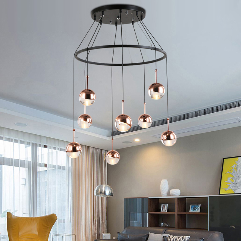 Metal Ball Pendant Lamps Bar Small Led