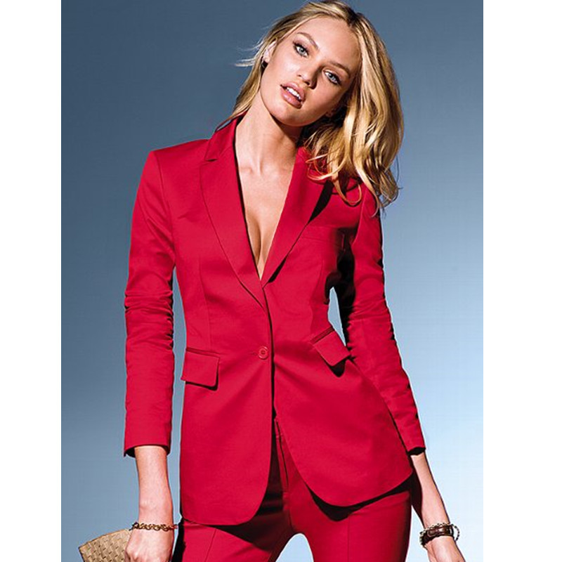 Professional Business suits 2017 Custom made Red Autumn New Fashion Elegant pants suits for font b