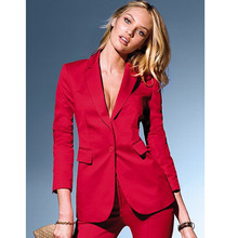 Professional Business suits 2017 Custom made Red Autumn New Fashion Elegant pants suits for womens (jacket+pants)