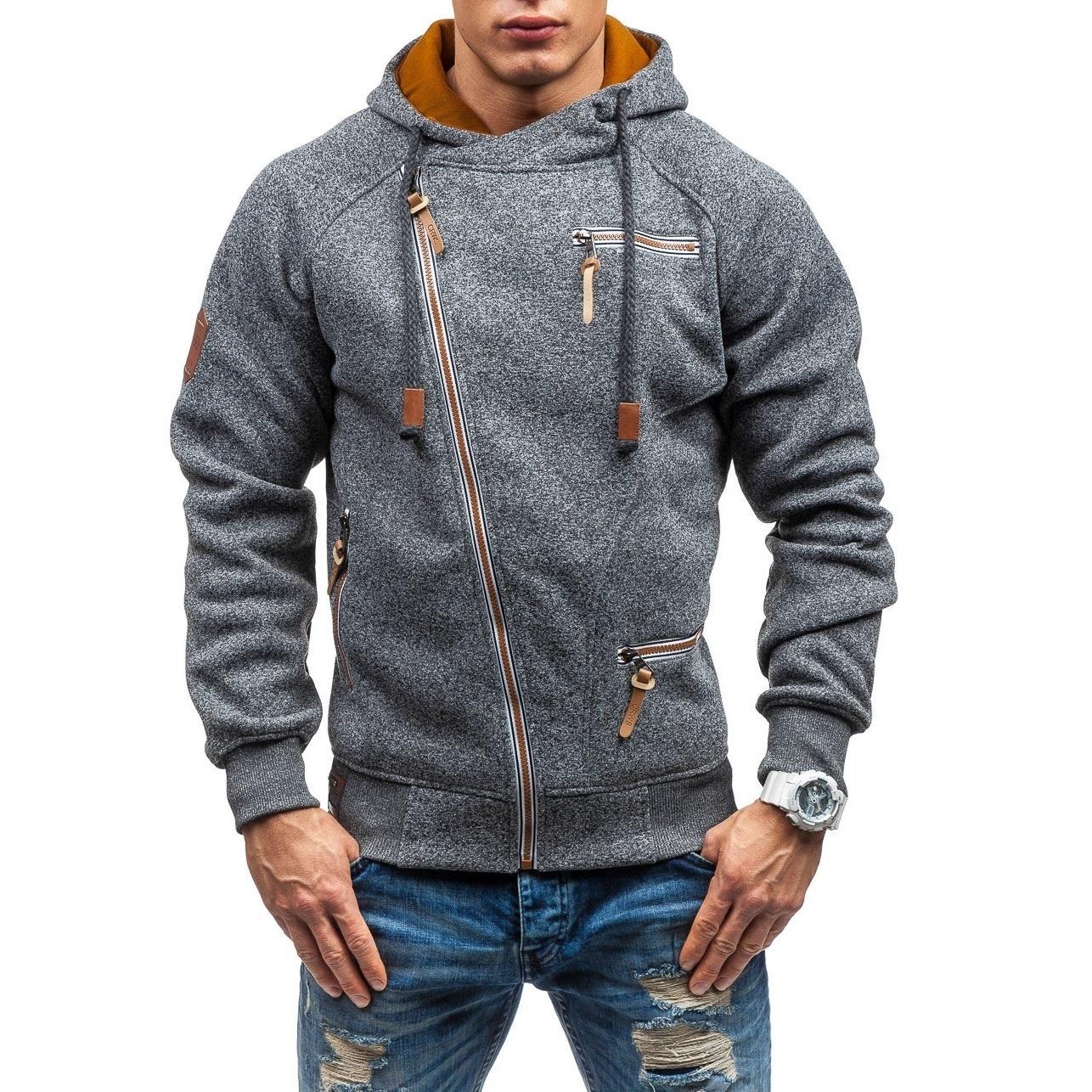HTB18GyFXIfrK1Rjy1Xdq6yemFXaa - Men Hoodies Sweatshirt 2019 Spring New Unique Diagonal Zipper Fashion Simple Loose Casual Hooded Streetwear Men Tracksuits Coat