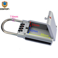 OSPON Outdoor Key Safe Box Keys Storage Password Lock Box Padlock Keys Hook Security Organizer Boxes