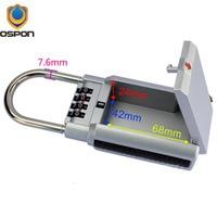 OSPON Outdoor Key Safe Box Keys Storage Password Lock Box Padlock Keys Hook Security Organizer Boxes