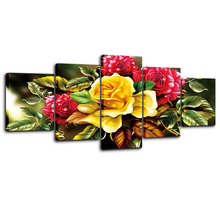 5pc Diamond Painting Flower 5D DIY Embroidery Full Round Drill mosaic Multi-picture christmas decorations for home