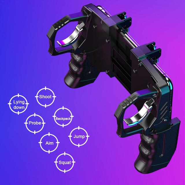 2020 For Pubg Controller For Mobile Phone Game Shooter Trigger Fire Button For IPhone Android Phone Gamepad Joystick PUGB Helper 3