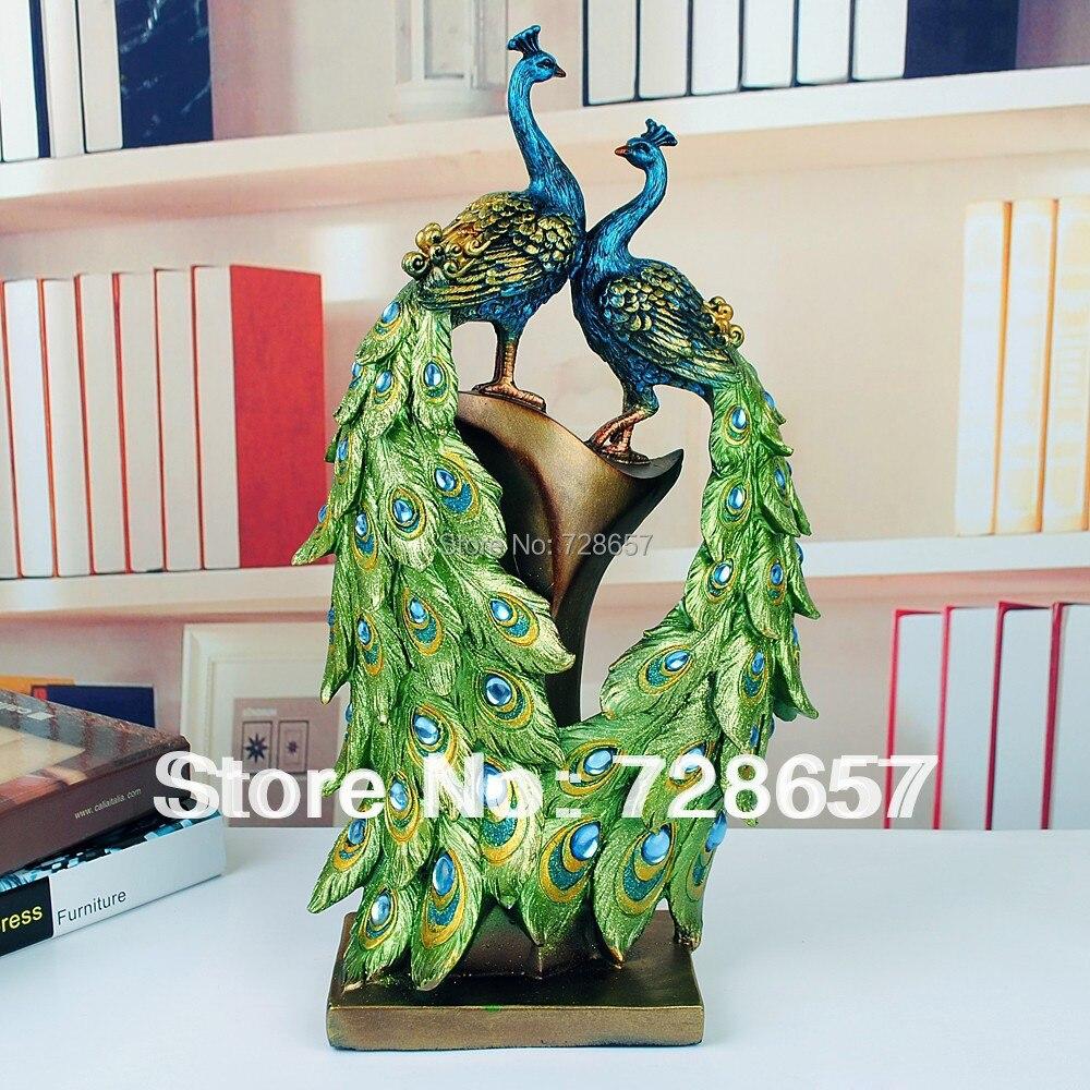 Traditionellen Chinesischen Pfau Paar Skulptur Liebhaber Pfau Statue Maskottchen Handwerk Ornament Hochzeit Dekoration Valentinstag Geschenk-in Statuen & Skulpturen aus Heim und Garten bei  Gruppe 1