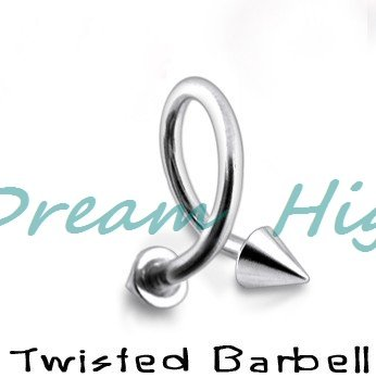 Twisted Barbell Nose Piercing Wholesale 316L Surgical steel  Lip Ring earring body Jewelry 100% Guaranteed Promotional Product