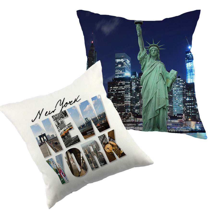City style NEW YORK printed cushion cover linen polyester throw pillow case cushion cover for home sofa