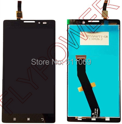 For Lenovo VIBE Z K910 K6 X910 LCD Screen Display with Touch Screen Digitizer Assembly by free shipping; black color; HQ