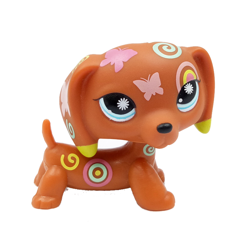 pet shop lps toys old original original DACHSHUND #1010 brown dog child Girl toys gift old original free shipping little