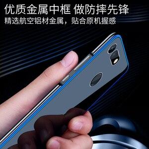 Image 3 - アルミニウム金属フレームケース Huawei 社の名誉 V20 ケース View20 強化ガラス裏表紙 Huawei 社の名誉 V20 金属バンパーケース