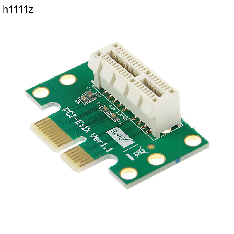 H1111Z PCI-E PCI Express X1 Adapter Riser Card PCI E PCIE X1 To X1 Slot Converter Card 90 Degree For 1U Server Chassis Wholesale