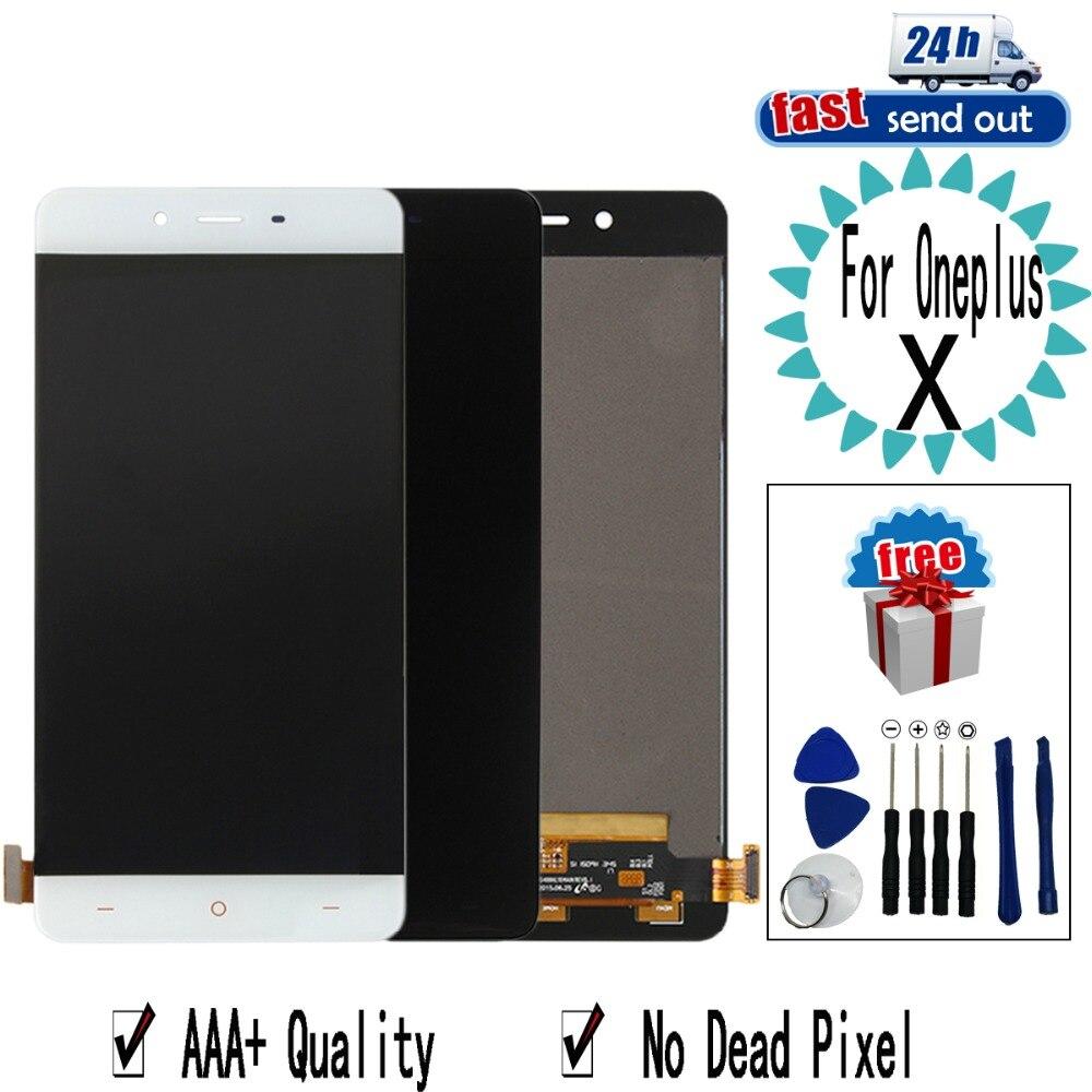 5.0 ''LCD X Para Oneplus Exibição X LCD Tela Sensível Ao Toque de Substituição Digitador Assembléia Para OneplusX E1003 E1003