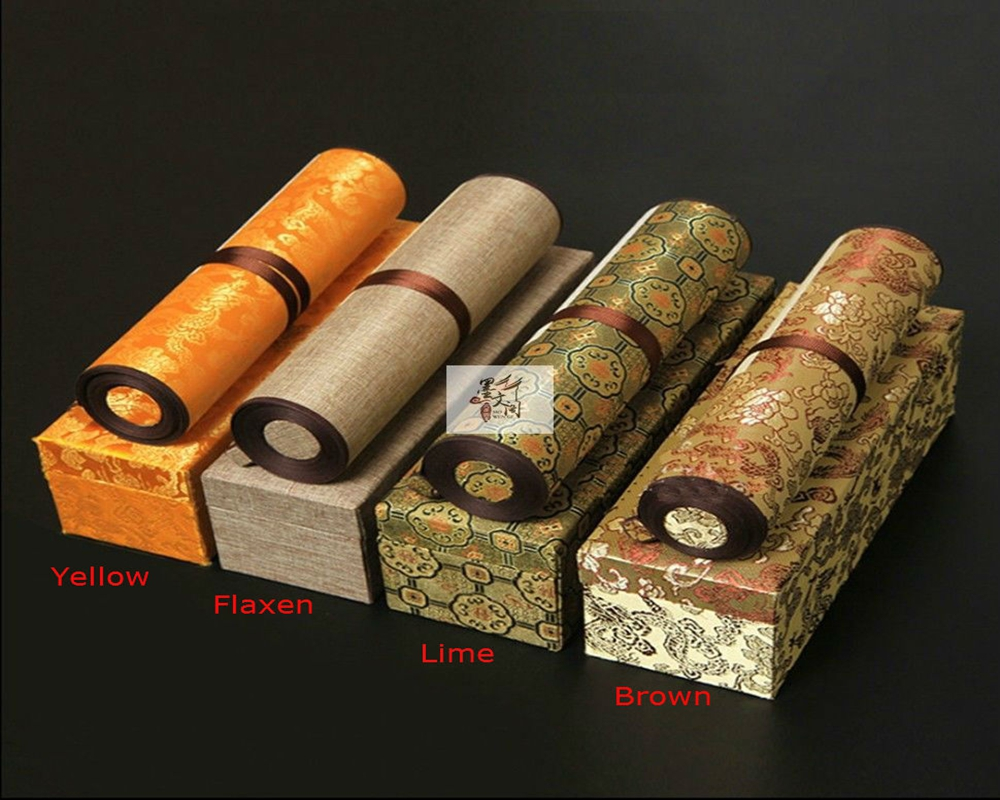 1pc Silk Brocade Scroll Rice Xuan Paper Ink Painting Calligraphy Sumi-e Gift Box адаптер аудио hama h 43368 jack 3 5 f jack 6 3 m черный [00043368]