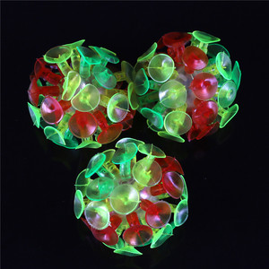Plastic Soft Sucker Sticky Slime Adhesive Glowing Ball Children Outdoor Fun Sport Games Educational Novelty Toys Gifts Hot Sale