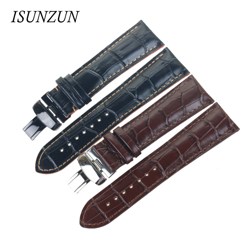 ISUNZUN Men And Women Watch Band For Mido M005.614 M005 Genuine Leather Watch Strap 23MM Leather Strap Watchband Free Shipping цена