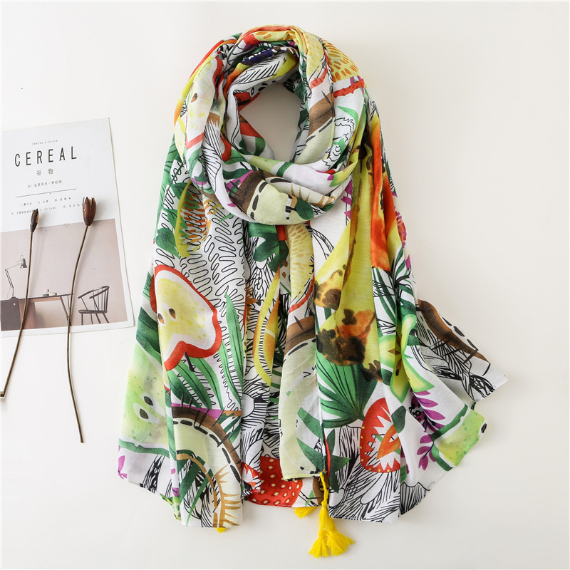 2020 Spring Autumn Fashion Luxury Brand Print Viscose Shawl Scarf Women High Quality Printe Warm Hijabs And Wraps Muslim Sjaal