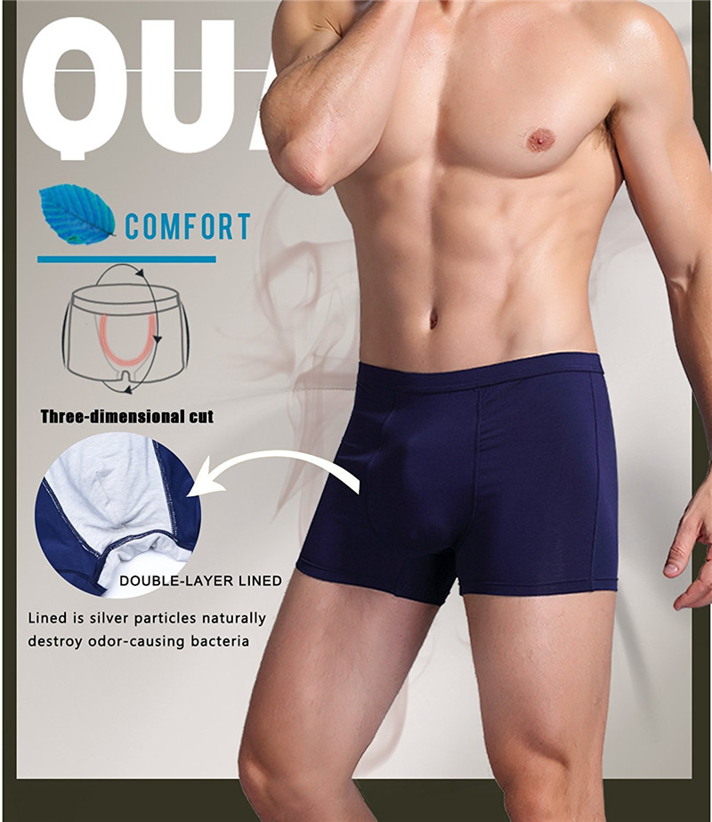 NINGMI Cotton Males Underwear Boxers Control Panties Mens Breathable Underpants Sexy Short Madal Slip Homme Mans Gay Panty Brief