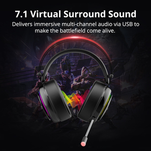 Image 2 - Tronsmart Glary Gaming Headset ps4 headset Virtual 7.1,USB Interface Gaming Headphones for ps4,nintendo switch,Computer,Laptop