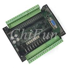 FX3U 32MT PLC industrial control board 6AD 2DA 8 way 100K pulse with 485 RTU communication transparent shell