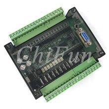 Placa de control industrial PLC FX3U 32MT, 6AD, 2DA, 8 vías, 100K, pulso con 485 comunicación RTU, carcasa transparente