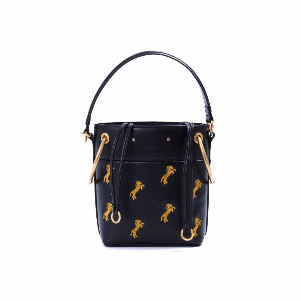 Famous Brand Women Designer Inspired Bag Roys mini Embroidered Leather Bucket Bag конструктор roys fwc 167