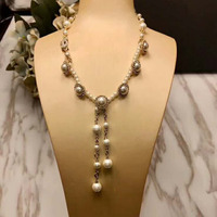 Hot Selling C Brand Women Pearl Necklaces Womens jewellery Bridal Jewelry Classic Female Wedding Gifts