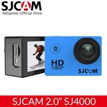 Оригинальная Экшн камера SJCAM SJ4000 Basic, Водонепроницаемая камера 1080P на шлем, HD 2,0 дюйма, Спортивная камера, Автомобильный регистратор