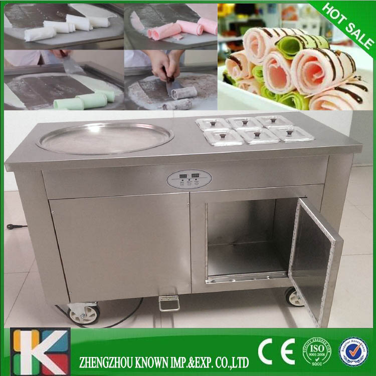 450mm big pan thai fried ice cream machine/stir fry ice cream machine