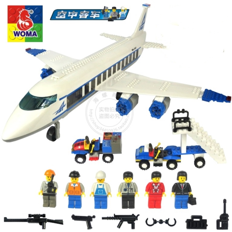 WOMA 434Pcs Airplane Toy Air Bus Building Blocks Legoings Plane Model DIY Bricks Aviation Private Aircraft Toys Kids Best Gifts