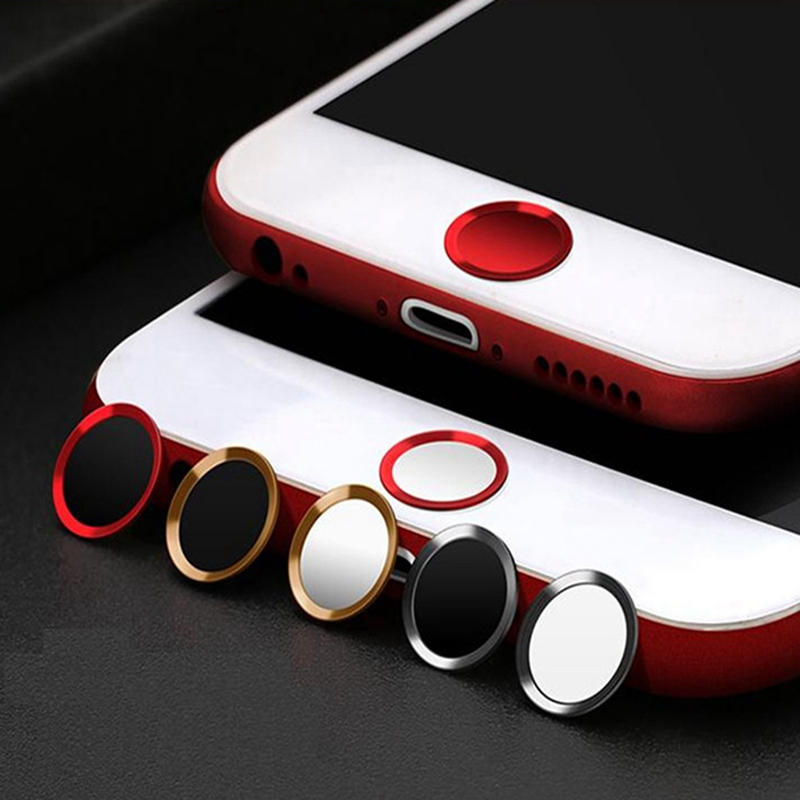 Ultra Slim Fingerprint Support Touch ID Metal Home Button Sticker For IPhone 7 7PLUS 6 6S 6PLUS 5 5S 5C SE Red & Black & Gold