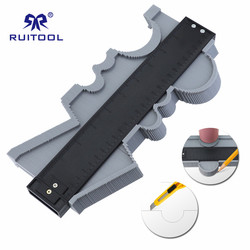 Contour Gauge Plastic Contour Profile Duplicator For Copying Shapes Tiling Laminate Tiles Profile Ruler Measure Marking Tool|Wskaźniki|Narzędzia -