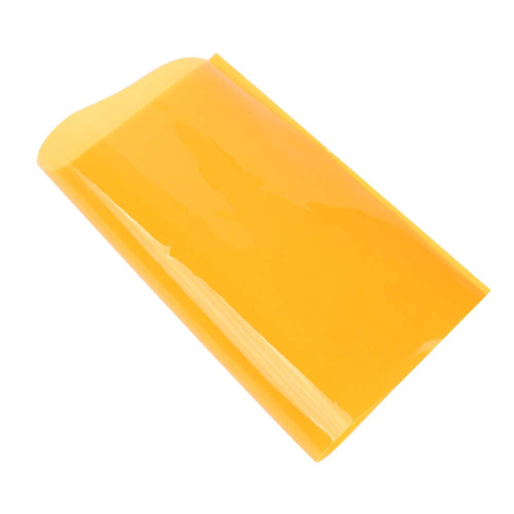 JOJO moños 22*30cm 1pc tela de vinilo de PVC transparente hoja de cuero sintético sólido para el Arco del pelo DIY suministros artesanales decoración del hogar