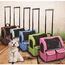 Pet Rolling Carrier Backpack Roller  Dog Wheel Around Cat Luggage Bag Pet Travel Carrier Travel Tote Airline Approved