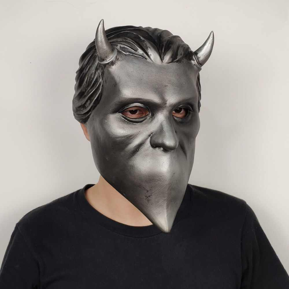 Ghost Nameless Ghoul Mask Cosplay Ghost B.C Rock Roll Band Latex Helmet Masks Halloween Party Props DropShipping.