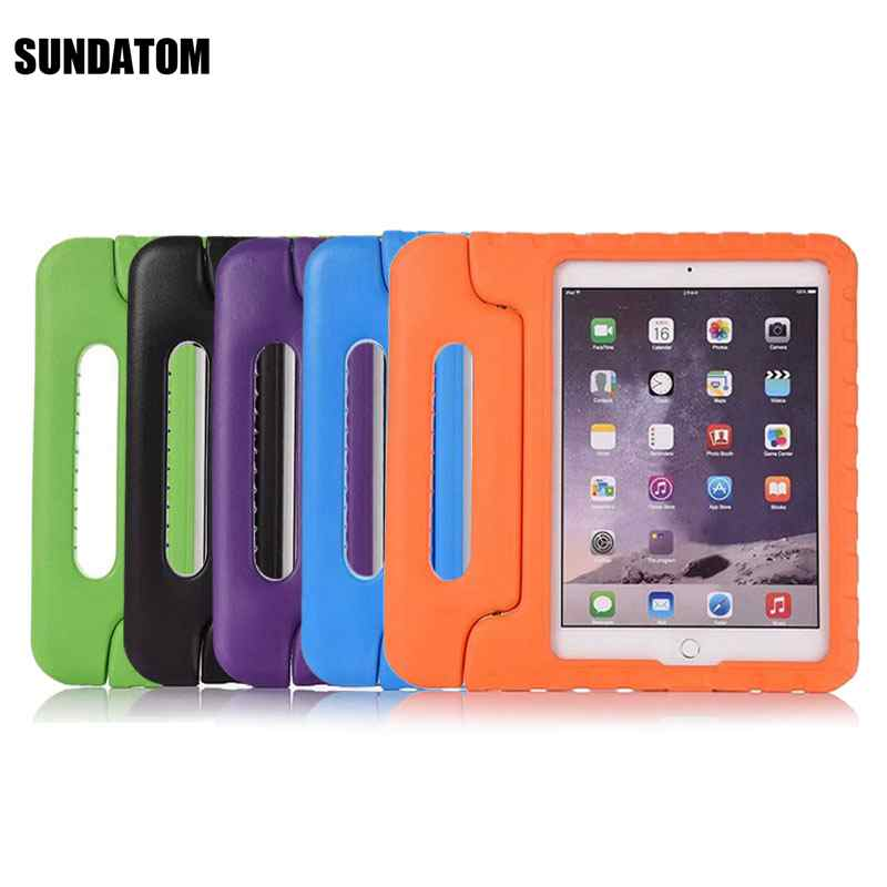 For Apple iPad Pro 9.7 Inch Silicone Case Smart PU Protective Shell Anti-Drop Proof Chil ...