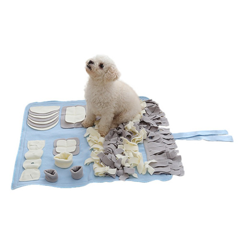 Pet Training Game Blanket High-grade Polar Fleece Kennel Doghouse Mat Pet Sniffing Blanket Training Supplies