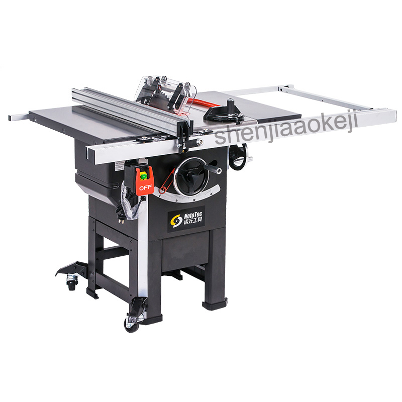 Professional Grade 10 Inch Vertical Woodworking Table Saw Joiner Table Saw With Mover 10-inch Panel Saw 1pc Sawing Machine