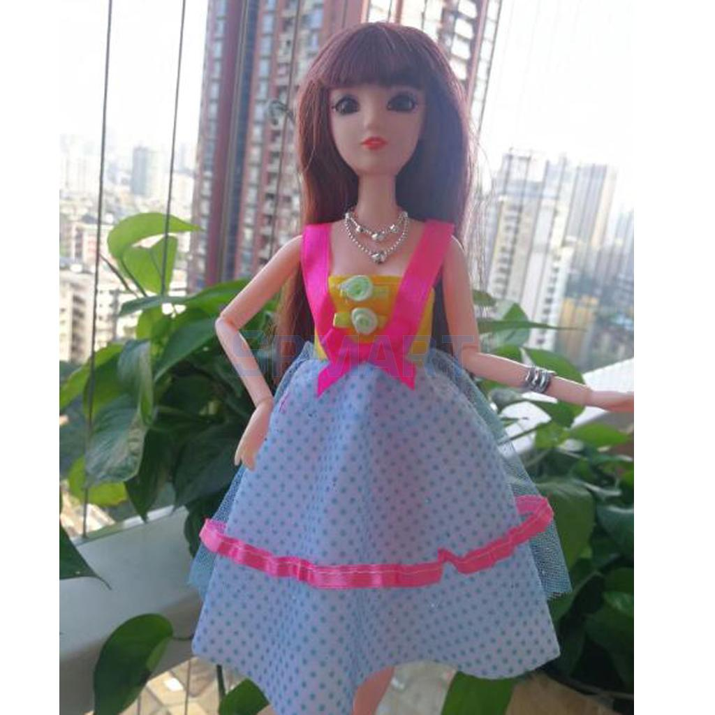 Fashion 12inch Doll Outfit Evening Party Gown for Kurhn Doll Dress Up Purple