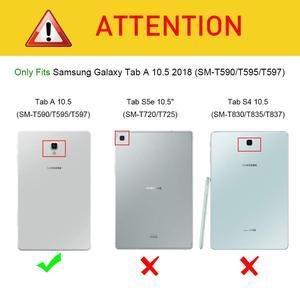 Image 2 - Съемный чехол для клавиатуры Samsung Galaxy Tab A 10,5 2018, Bluetooth, беспроводная клавиатура с функцией автоматического сна/пробуждения, для планшета Samsung Galaxy Tab A 10,5 2018, T595/T597