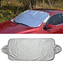 Автомобильная алюминиевая пленка, защита от снега и льда, козырек, солнцезащитный козырек Fornt, заднее лобовое стекло, двухсторонняя крышка, блочные щиты, дропшиппинг, YJJ1