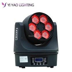 6x15 w kabel dmx RGBW 4in1 Mini Led do mycia oświetlenie DJ w Oświetlenie sceniczne od Lampy i oświetlenie na