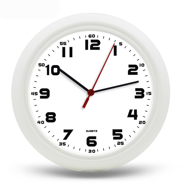 US $19 99 |By Epacket Free Shipping Transparent Clocks Digital Quartz  Plastic Clocks 10'inch Home Decoration Hanging Wall Clocks-in Wall Clocks  from