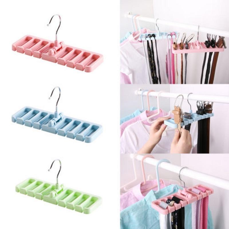 Multifunctional Hanger Stores Ties Belts Scarves or Other Accessories Belt Storage Rack Tie Belt Organizer Wardrobe Space Saver