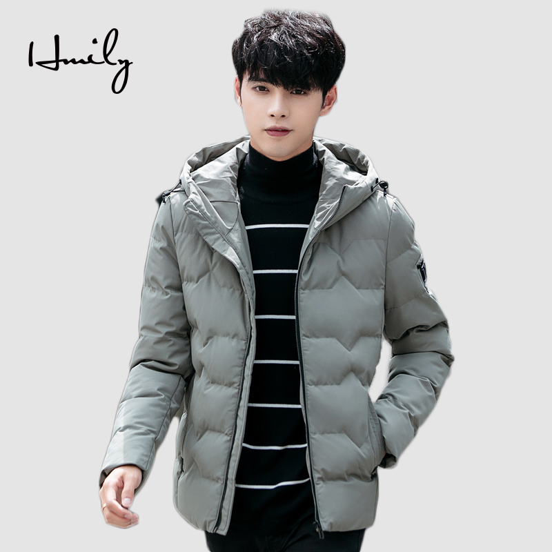 HMILY Winter Brand Jacket Men High Quality Warm Thicken New Arrival Mens Parka Fashion Coats