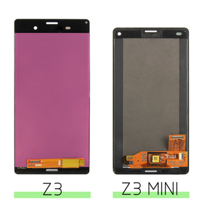 Image 5 - ORIGINAL Für SONY Xperia Z3 Kompakte Display Rahmen Z3 Mini D5803 D5833 Ersatz Display Für SONY Xperia Z3 LCD D6603 d6633